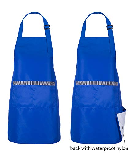 Chef Max 2 Pack Delantales Impermeables con Bolsillos para Mujer y Hombre