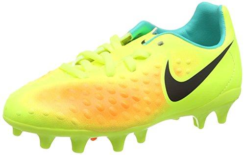 Nike - Jr Magista Opus Ii Fg, Scarpe da ginnastica Unisex - Bimbi 0-24, Giallo (Volt gelb/Schwarz-Total Orange-Clear Jade Türkis), 27.5