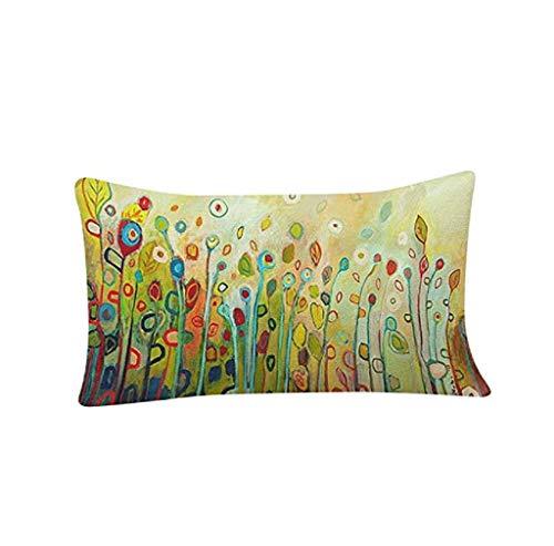 Federa di natale, scpink cassa del cuscino di rettangolo, bella pittura a olio festival festival divano letto casa cuscino di tiro federa (c)