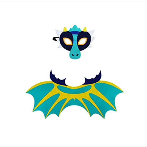 SHIJIAN Multi Farben Kinder Dinosaurier Flügel Maske Set Spielzeug Cosplay Halloween Party Show Requisiten Halloween Kostüm Halloween Kleidung Halloween Zubehör, 4# (Kinder Für Halloween-show)
