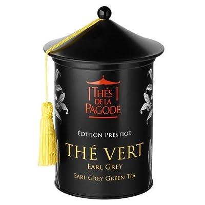 Thé Vert Earl Grey par Thés de La Pagode | Edition Prestige – Boite de 100 grammes | Un classique anglais de qualité