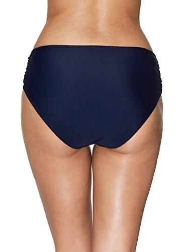 Attraco Damen Badehose Boardshort Damen Bade Hotpants Damen Badeshorts Frauen Bikini Badehose Blau-Plissee