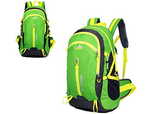Neuer Rucksack Schultertaschen outdoor Taschen 40L wasserdicht Bergsteigen Reisetaschen Green