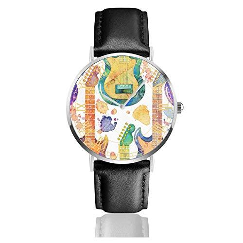 Beschichtete Wheaten Terrier Dog Cartoon Schwarz Quarzwerk Edelstahl Lederband Uhren Casual Fashion Armbanduhren -