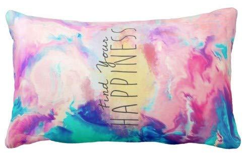 Federa per la casa Bella e Carina Trova la Tua Felicità Design per Divano e Auto Pillow Case 1 Confezione 19,68x35,4 Pollici