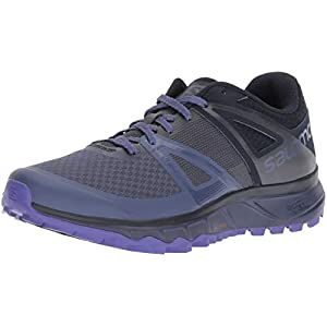 Salomon Trailster W Scarpe da Trail Running Donna, Blu Crown Blue/Navy Blazer/Purple Opale, 45 EU