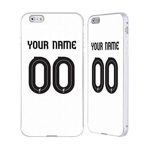 Personalizzata Personale Liverpool Football Club Geometrico Rosso 2017/18 Argento Cover Contorno con Bumper in Alluminio per Apple iPhone 5 / 5s / SE Liver Bird Maglietta Away