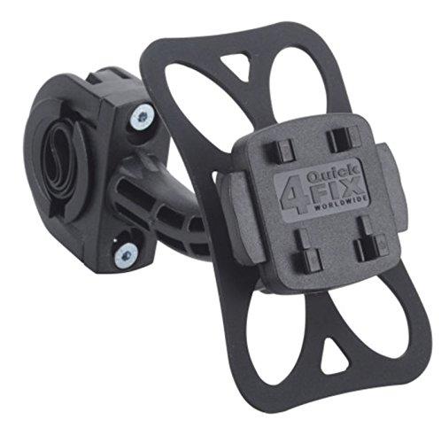 KRS - HF5+ - BIKE MOUNT Motorradhalter Motorrollerhalter E-Bike Fahrradhalter inklusive Quick-Fix-System 4QF und Silikon-Sicherungsring m. Schraubbefestigung für Lenkstangen und für Lenker von für Falk Tiger Geo, Teasi one , Teasi one 2 , Teasi one 3, Teasi Pro und SMAR.T Power (HF5+) (Mount Trennen)
