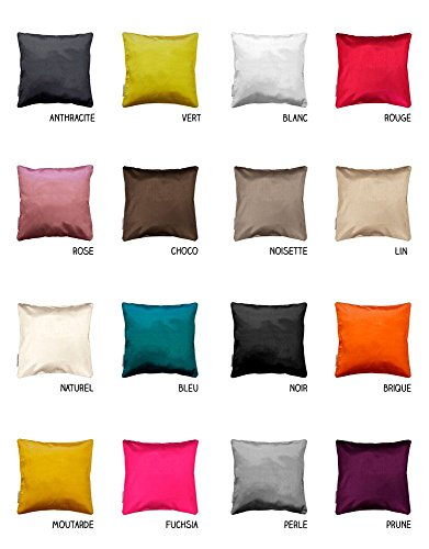 Housse de coussin - Zip - 60 x 60 cm - Shana - Différents coloris