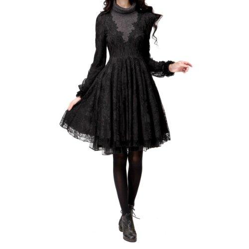 Artka Damen Kleid Schwarz - Schwarz
