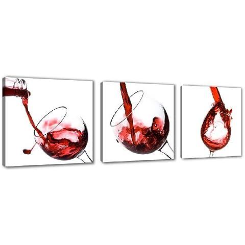 cuadro en lienzo x cm nr vino enmarcado y listo para colgar