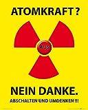 1art1 54130 Atomkraft - Atomkraft Nein Danke Poster