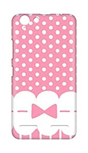 Amez designer printed 3d premium high quality back case cover for Lenovo K5 Plus (girly pink bow dots)
