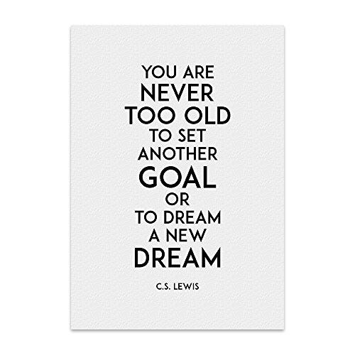 TypeStoff Kunstdruck, Poster mit Spruch – Goal and Dream – Wand-Bild, Plakat mit Zitat als Geschenk und Dekoration zum Thema Alter, Ziele und Träume atnr443dn