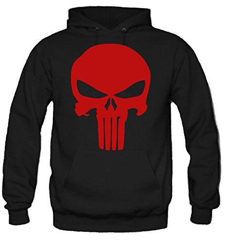 Punisher Kapuzenpullover | Männer | Herren | Comic | Batman | Film | Serie | Kostüm | War Zone | Marvel | USA | Kult (M, (Kostüm Rot Superman Schwarz Und)