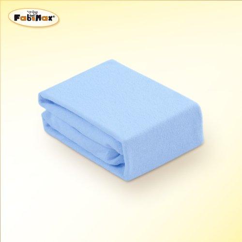 Preisvergleich Produktbild FabiMax 2650 Frottee Spannbettlaken für Beistellbett und Wiege,  90 x 55 cm, blau
