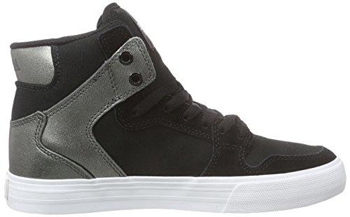 Supra Womens Vaider, Sneakers Hautes femme Noir (BLACK / GUNMETAL- WHITE BMT)