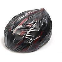 Hysenm Couvre Casque Vélo Étanche Aéré Haute Visibilité Léger Compact Coupe-vent Antibactérien Protection UV TPU Polyester blanc/rouge/vert/noir