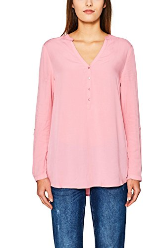 ESPRIT Damen Bluse 127EE1F024, Mehrfarbig (Pink 670), 36