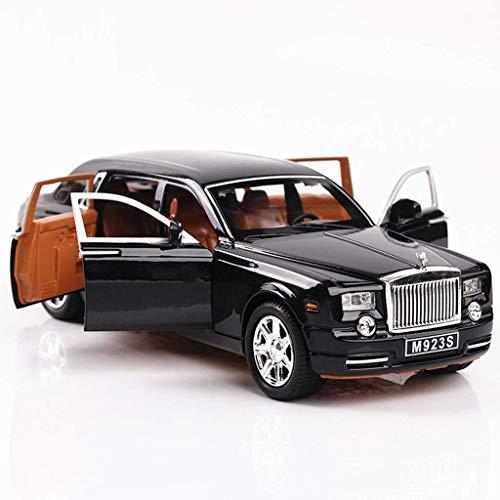 YaPin Modellauto 1:24 Rolls-Royce Phantom Simulation Legierung Sportwagen Erwachsene Collector's Edition Auto Modell Dekoration Zurückziehen Spielzeugauto (Color : Black) - Rolls-royce Phantom Modell