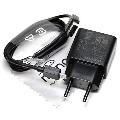 Chargeur pour Sony d'origine UCH10 avec câble de données EC803 1,8A câble de charge Charger pour Sony Xperia X (Dual), Xperia X Performance (Dual), Xperia XA (Dual) avec chiffon de nettoyage mungoo