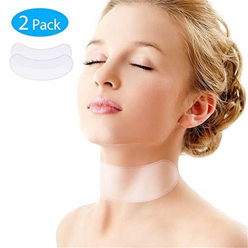 Anti-Falten Silikon Hals Pad,wiederverwendbar Silikon-Pflege-Nackenpolster, Nackenband Falten-Pads zu beseitigen und Halsfalten zu verhindern(2 Stück) -