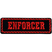 RED OFFICER ENFORCER, High Thread Embroidered Iron-On / Saw-On Rayon PATCH - 4