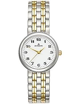Dugena Damen-Armbanduhr Traditional Classic Analog Quarz Edelstahl beschichtet 4109910