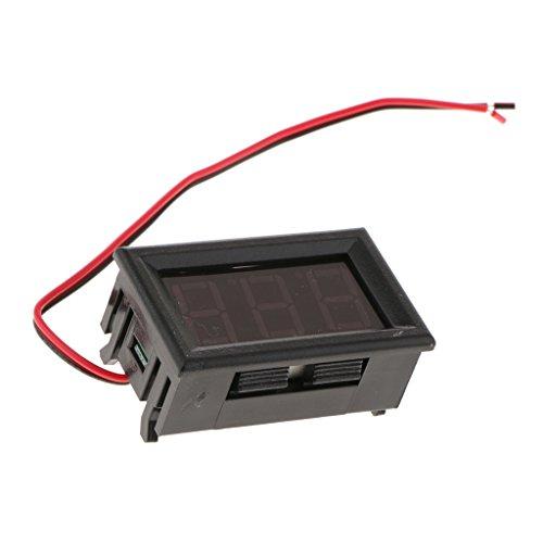 gazechimp 0,56 Zoll 2 Leiter Spannungsmesser Kopf Monitor Tester LED Digital Voltmeter Rot - Blau -