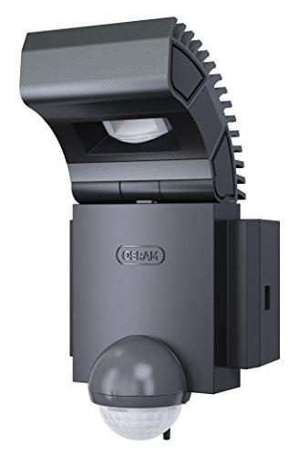 OSRAM Noxlite Spot LED d'extérieur avec détecteur de mouvement et de luminosité / Dissipateur de haute qualité en aluminium / 8W, 6000K - blanc froid, gris anthracite [Classe énergétique A +]