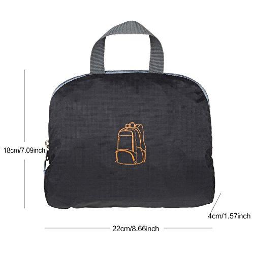 EEZEE BIG BEND 28 Liter strapazierfähiger praktischer Leichtgewicht Reiserucksack Tagesrucksack mit Lebenslanger Garantie Schwarz