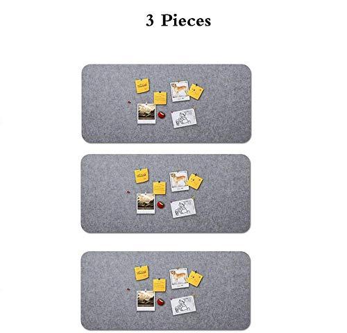 dududrz Filz Wandaufkleber 60x120 cm Memoboard Bunte Filzbrett Bulletin Board Memo Wand Pinnwände Küche Selbstklebend Filzpinnwand Wanddekoration Für Bilder,3Pieces