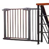 Extra breites Baby-Tor für Treppen Türen Innen, Wandschutz einstellbar Cat Dog Pet Sicherheitstür, Metall, Grau und Rot, 77-173 cm (größe : 107-113cm)