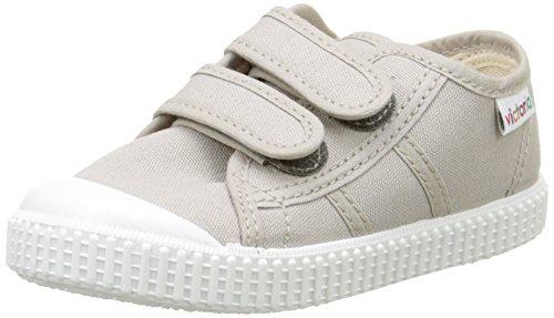 VictoriaBasket Lona Dos Velcros - Scarpe da Ginnastica Basse Unisex - Bambini , grigio (Gris (80 Beige)), 27 EU