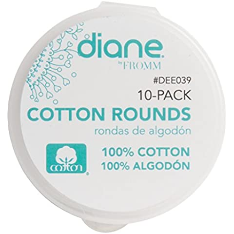 MayaBeauty Organic Cotton Rounds w/ Reusable Plastic Case perfect bathroom counter or salon station, Standard 2.4 Diameter(rounds) by