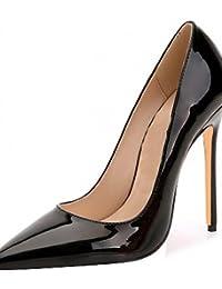 ZQ Zapatos de mujer-Tac¨®n Cu?a-Tacones-Tacones-Oficina y Trabajo / Vestido / Casual-Microfibra-Negro / Amarillo / Beige , beige-us4-4.5 / eu34 / uk2-2.5 / cn33 , beige-us4-4.5 / eu34 / uk2-2.5 / cn33