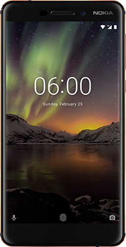 "Nokia 6.1 Smartphone da 5.5"" IPS full-HD, 3 GB RAM, 32 GB ROM, Dual SIM, Camera da 16MP, Nero/Copper [Italia]"