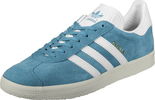 adidas Gazelle Tactile Steel White Gold Metallic Grau (Tactile Steel/Footwear White/Gold Metallic)