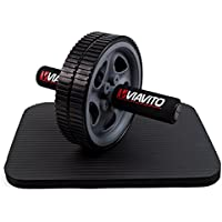 Viavito Ab Exercise Wheel - Black/Grey