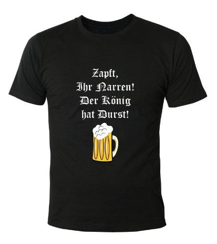 Mister Merchandise Cooles Fun T-Shirt Zapft ihr Narren. Der König hat Durst. Schwarz