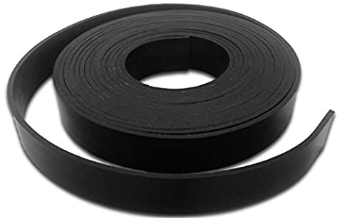 Solid neoprene rubber strip - 1.5mm thick, various widths available - 5/10m lengths - door seal, weather strip, gasket making (5m x 25mm