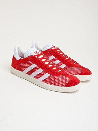 adidas Herren Gazelle Primeknit Sneaker Rot (Scarlet/Footwear White/Chalk White)
