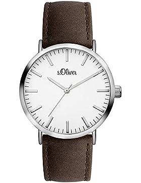 s.Oliver Unisex-Armbanduhr Analog Quarz Leder SO-3102-LQ