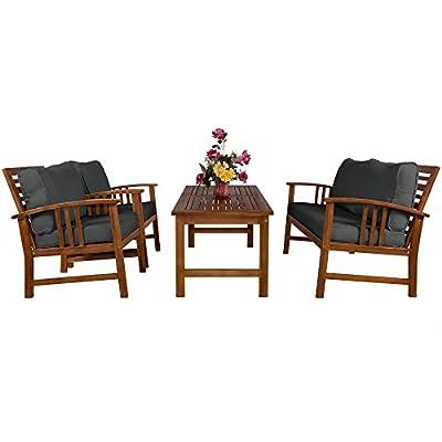 Deuba Sitzgruppe Holz Sitzgarnitur Gartenmöbel Gartengarnitur Garten Lounge Holzgarnitur Set von Deuba bei Gartenmöbel von Du und Dein Garten
