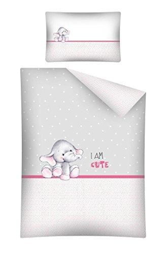 Baby Bettwäsche Garnitur Elefant