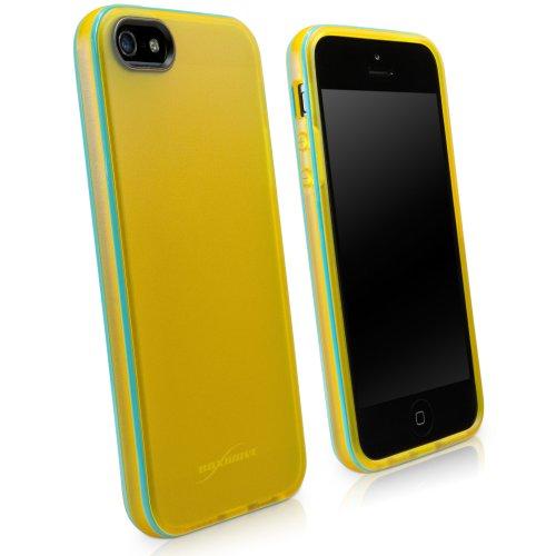 BoxWave Étui Citrus Apple iPhone 5cas-Ultra Fine, discrète Coque en TPU dans une finition mate pour Apple iPhone 5Jaune vif-Apple iPhone 5Housses et Apple iPhone 5cas