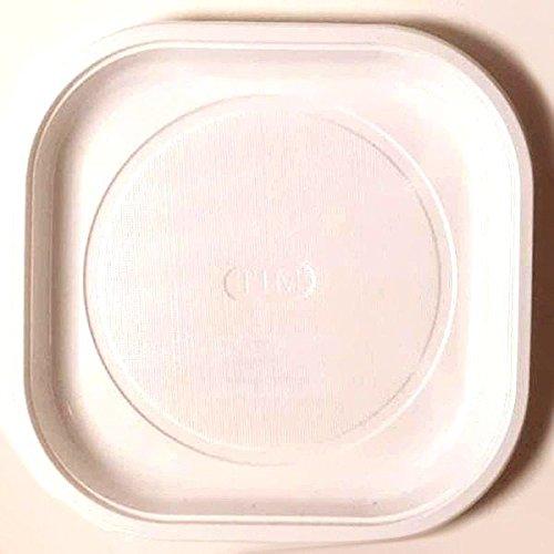 30 ASSIETTES PLATES CARREES 20CM - BLANC