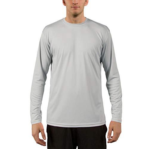 Vapor Apparel Herren UPF 50+ UV Sonnenschutz Langarm Performance T-Shirt L Perlgrau -