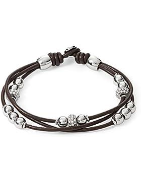 FOSSIL Armband JA6068040 Leder braun silber