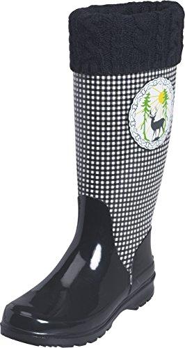 Playshoes Wellies Deer, Bottes de Neige femme Noir - Black - Schwarz (schwarz 20)